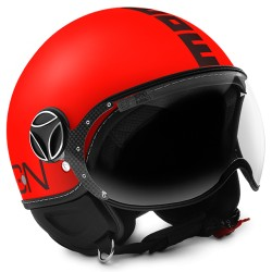 MOMO - FGTR FLUO RED MATT - BLACK DECAL