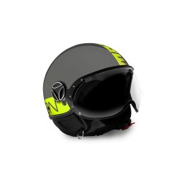 MOMO - FGTR FLUO GLOSSY GRAY - YELLOW FLUO DECAL