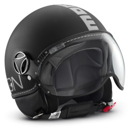 MOMO - FGTR CLASSIC BLACK MATT - SILVER DECAL